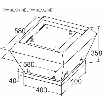 Вентилятор KORF KW 40 (КОРФ)