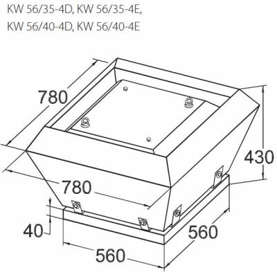 Вентилятор KORF KW 50 (КОРФ)