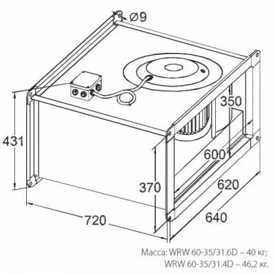 Вентилятор KORF WRW 60-35 (КОРФ)