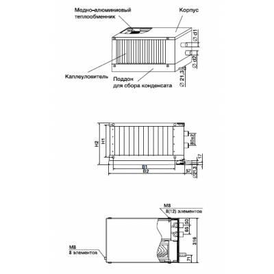 Zilon ZWS-W 800x500-3 Водяной нагреватель